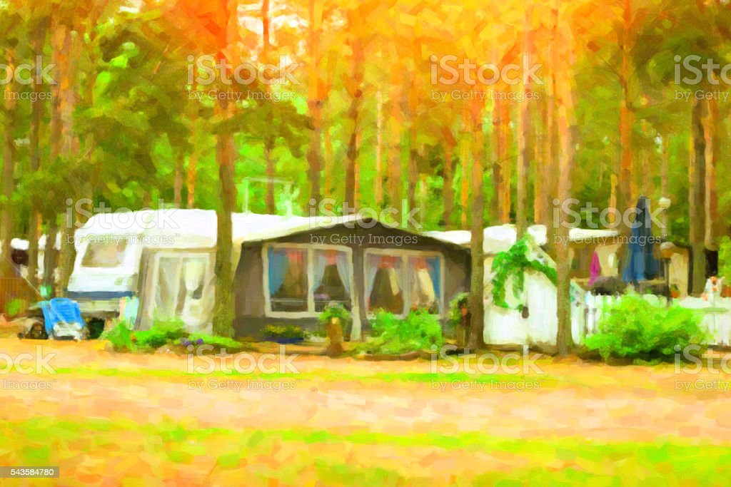 Scandinavian c&ing in c&s and tents. Stylized photo royalty-free stock photo & Scandinavian Camping In Camps And Tents Stylized Photo stock photo ...