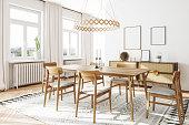 istock Scandinavian Domestic Dining Room Interior 1329937916