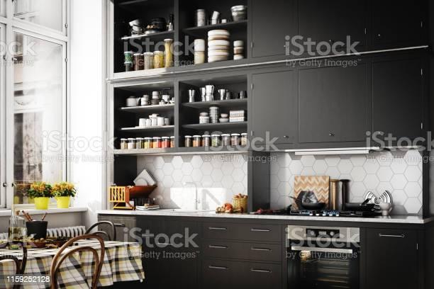 Scandinavian domestic kitchen picture id1159252128?b=1&k=6&m=1159252128&s=612x612&h=idtmcnz5wi0xslkzwvfzdaqycjfr4ktlm4uldkmf1xk=