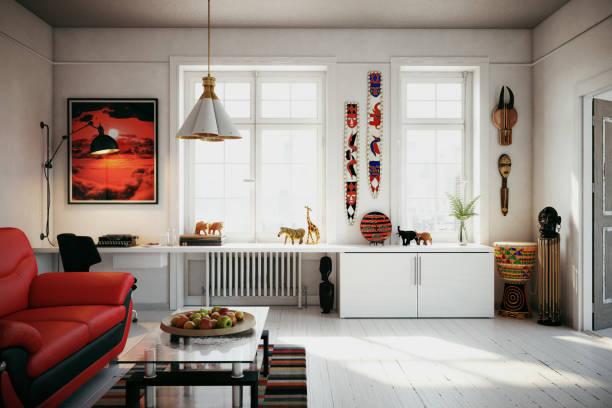 scandinavian home interior - heizraum stock-fotos und bilder