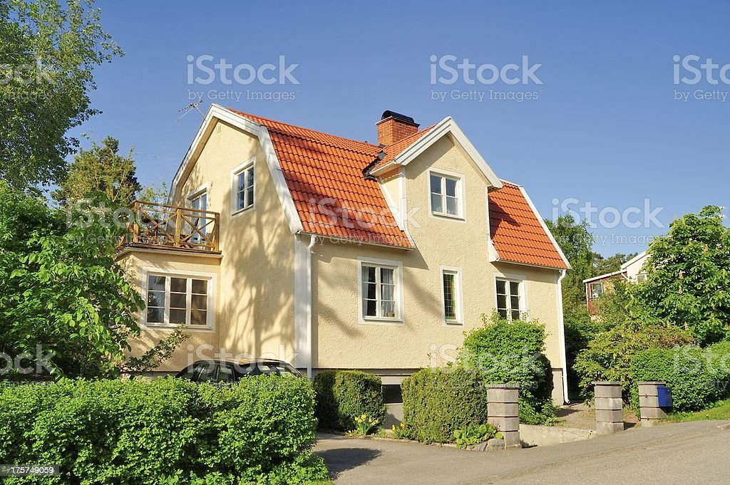 Scandinavian housing bildbanksfoto