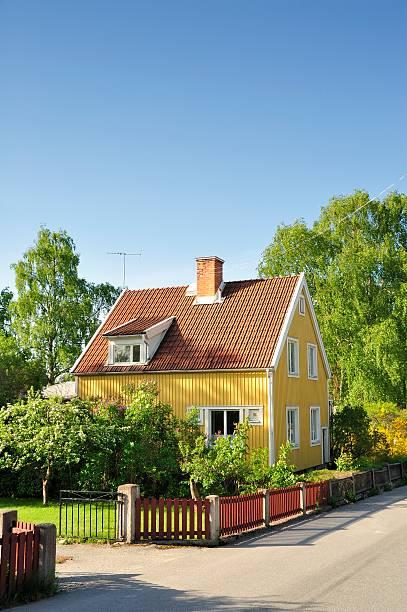 Scandinavian housing bildbanksfoto