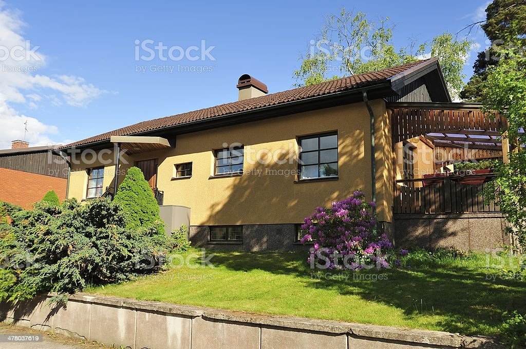 Scandinavian housing royalty-free stock photo