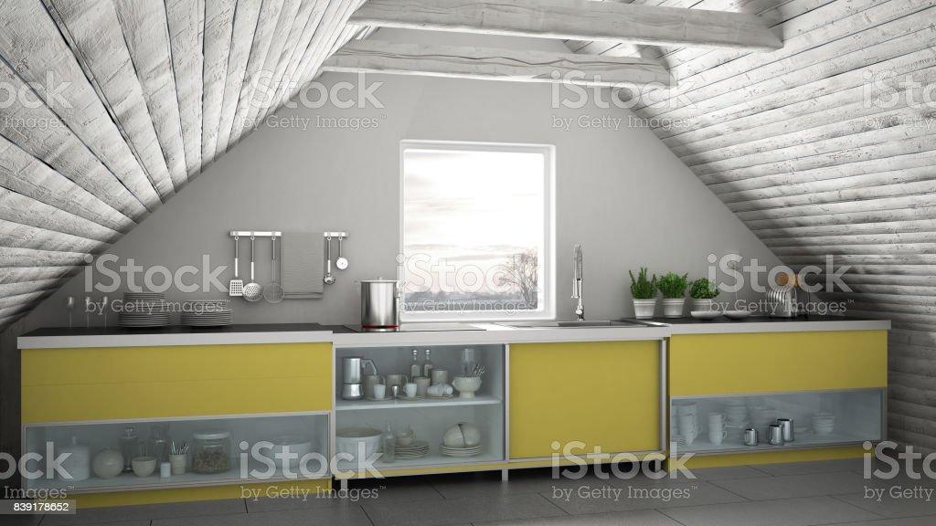 Cocina Industrial Escandinavo Loft Entrepiso Diseño De ...