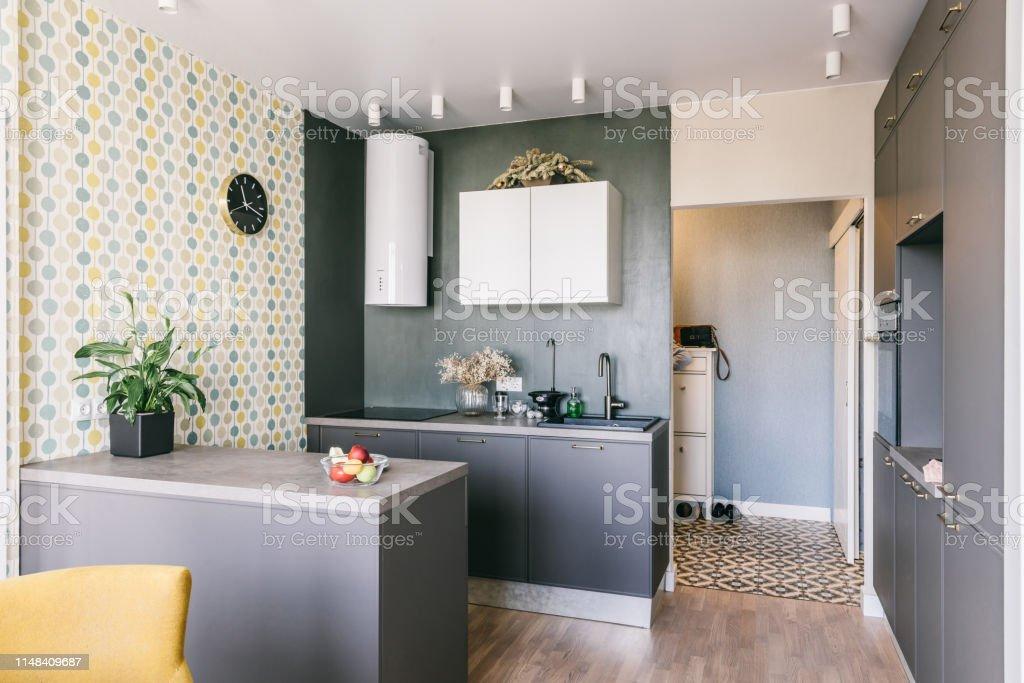 Scandinavian Interior Design White Grey Yellow Green Color ...