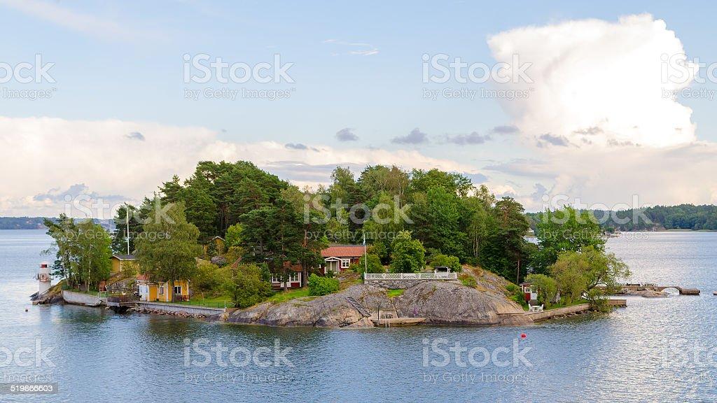 Scandinavian Island stock photo