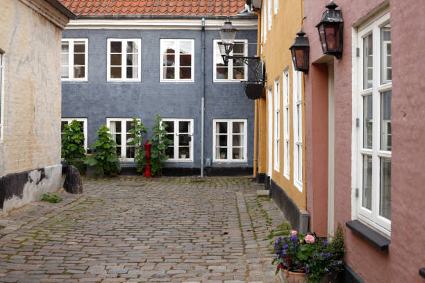 Scandinavian living, Aalborg stock photo