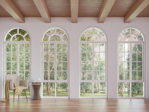 Scandinavian living room 3d rendering image stock photo