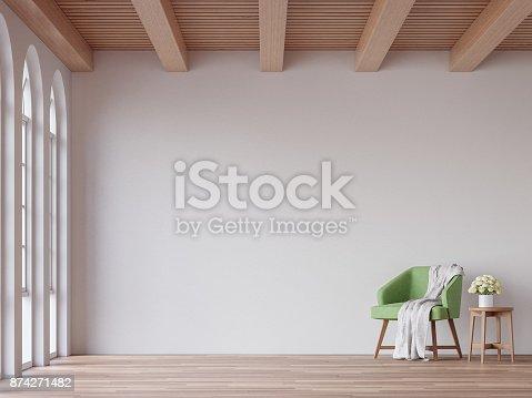 902720222istockphoto Scandinavian living room 3d rendering image 874271482