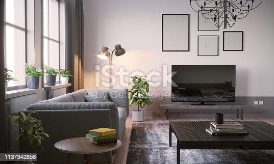 istock Scandinavian Living Room Interior Close-up 1137342656
