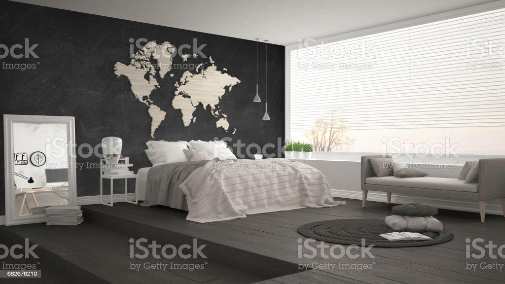 Foto De Scandinavian Minimalist Bedroom Minimalistic Modern Interior Design E Mais Fotos De Stock De Aconchegante Istock