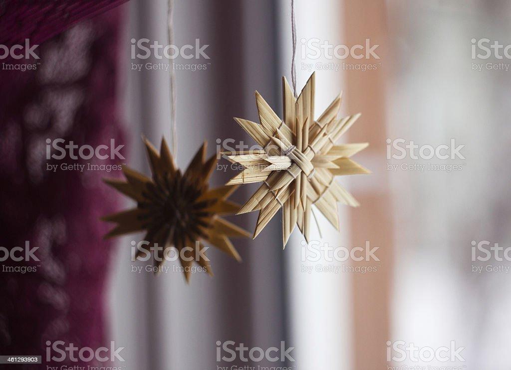 Scandinavian Straw Ornaments stock photo