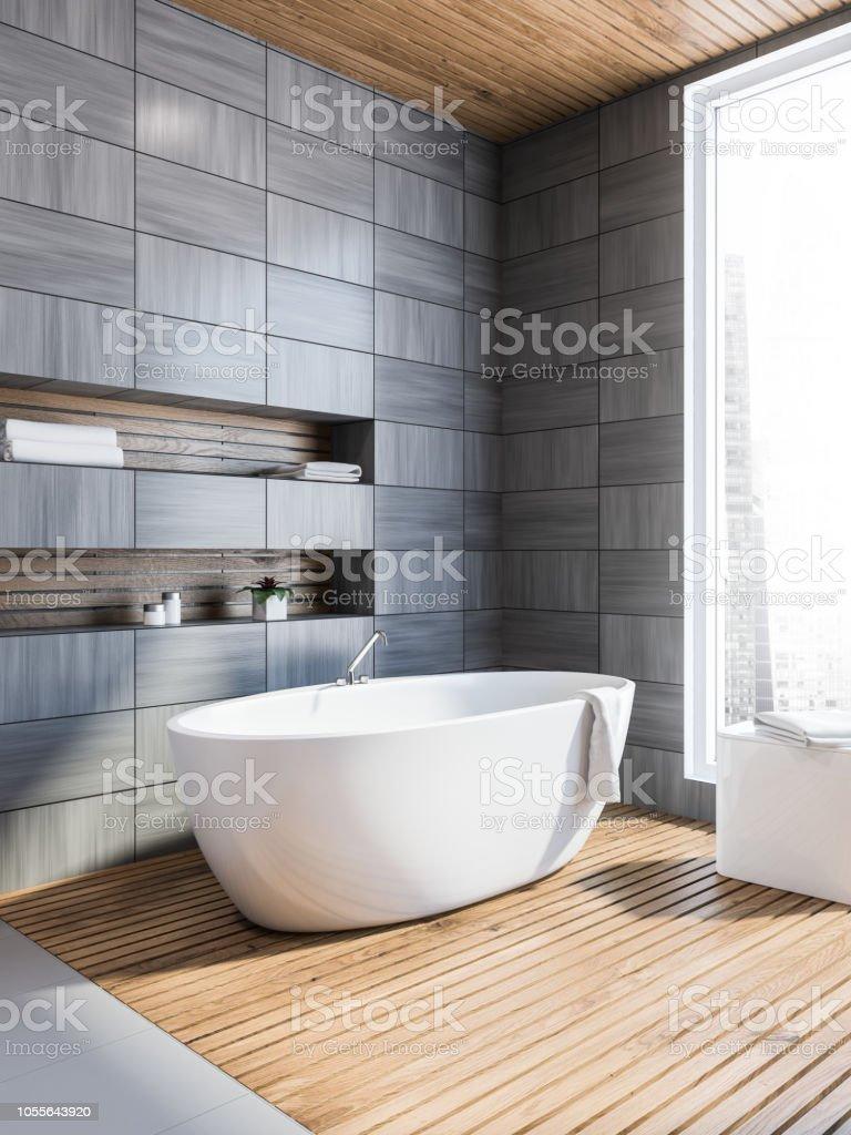 Skandinavischen Stil Badezimmer Ecke Grau Stockfoto und mehr ...
