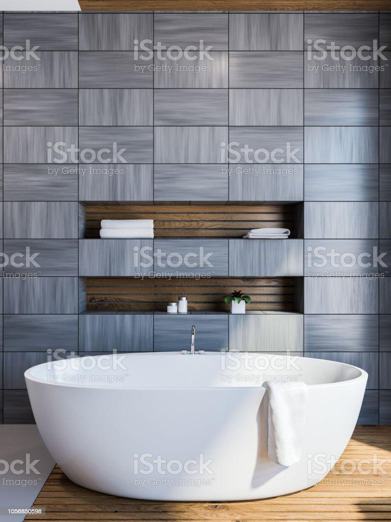 Skandinavischen Stil Badezimmer Interieur Grau Stockfoto und ...