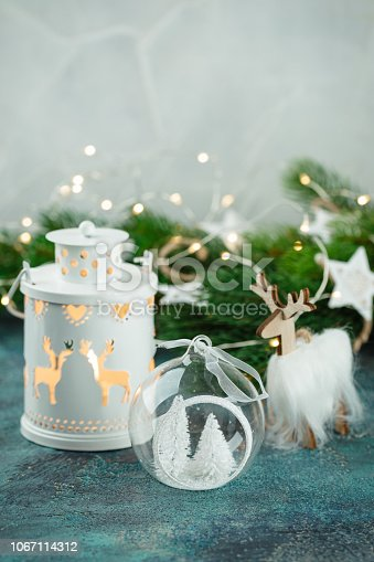 istock Scandinavian style Christmas decorations 1067114312