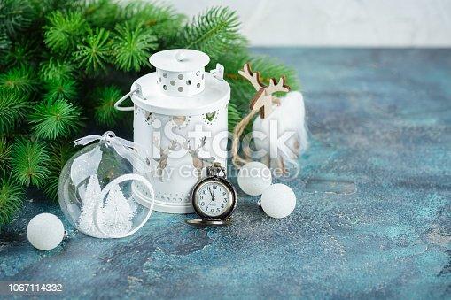istock Scandinavian style Christmas decorations 1067114332