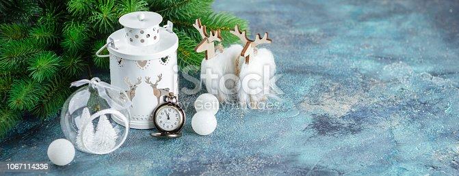 istock Scandinavian style Christmas decorations 1067114336