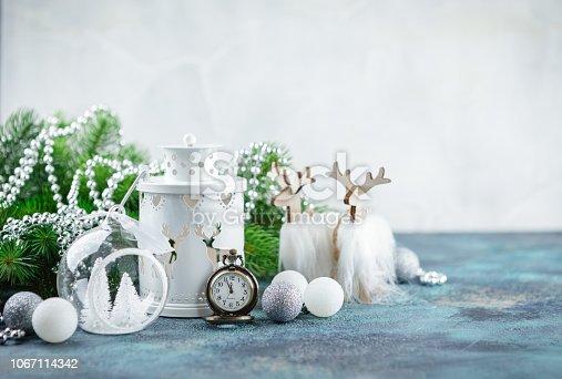 istock Scandinavian style Christmas decorations 1067114342