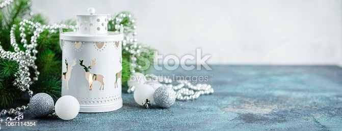 istock Scandinavian style Christmas decorations 1067114354