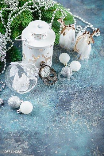 istock Scandinavian style Christmas decorations 1067114366