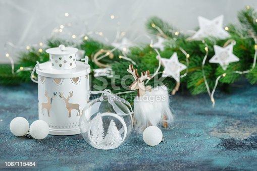 istock Scandinavian style Christmas decorations 1067115484