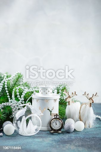 istock Scandinavian style Christmas decorations 1067115494