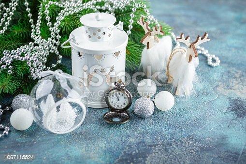 istock Scandinavian style Christmas decorations 1067115524