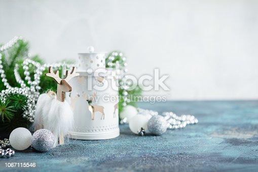 istock Scandinavian style Christmas decorations 1067115546