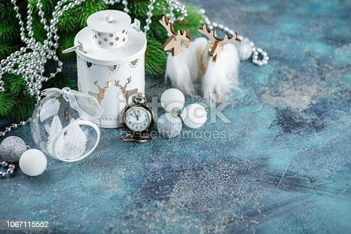 istock Scandinavian style Christmas decorations 1067115552