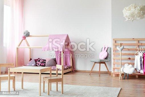 1213866189 istock photo Scandinavian style girls bedroom 844458914