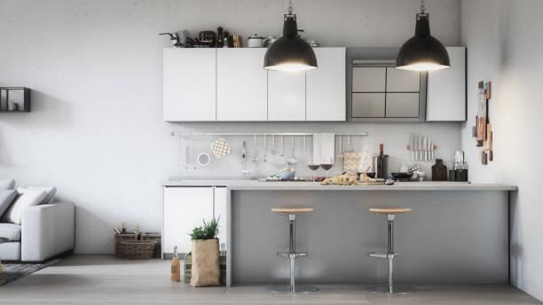 Scandinavian Style Home Interior stock photo