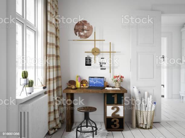 Scandinavian style home office interior picture id916661056?b=1&k=6&m=916661056&s=612x612&h=njncg oq6pq0z0lu2 uaatxgyvbexm79o1zm1ck64hq=