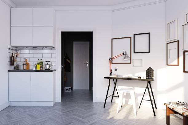 interior de estilo escandinavo. - foto de stock