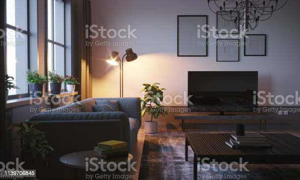 Scandinavian style living room in the evening picture id1139706845?b=1&k=6&m=1139706845&s=612x612&h=uku1oodoa8pcydv8atx 8ofexaqf4p9oz9lv4k4wdhi=