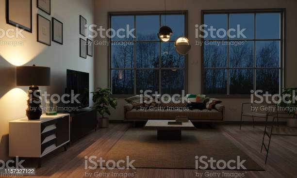 Scandinavian style living room in the evening picture id1157327122?b=1&k=6&m=1157327122&s=612x612&h=de oms76jfxaxsw8d5yemvnuwttiyenj0o3bmhtwkok=