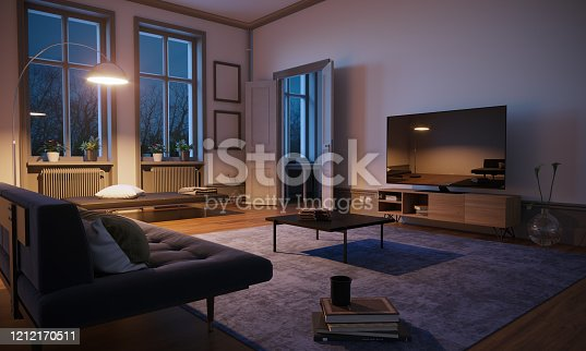 istock Scandinavian Style Living Room Interior 1212170511