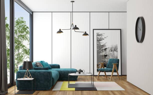 Wohnzimmer im skandinavischen Stil – Foto