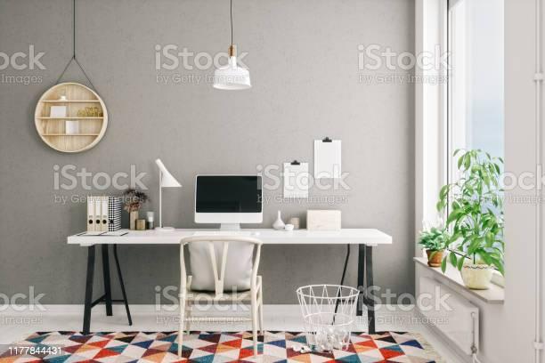 Scandinavian style modern home office interior picture id1177844431?b=1&k=6&m=1177844431&s=612x612&h=cec6ehmzwnz7lx3p4esecbwmdpauwsufc91yx2qtv k=