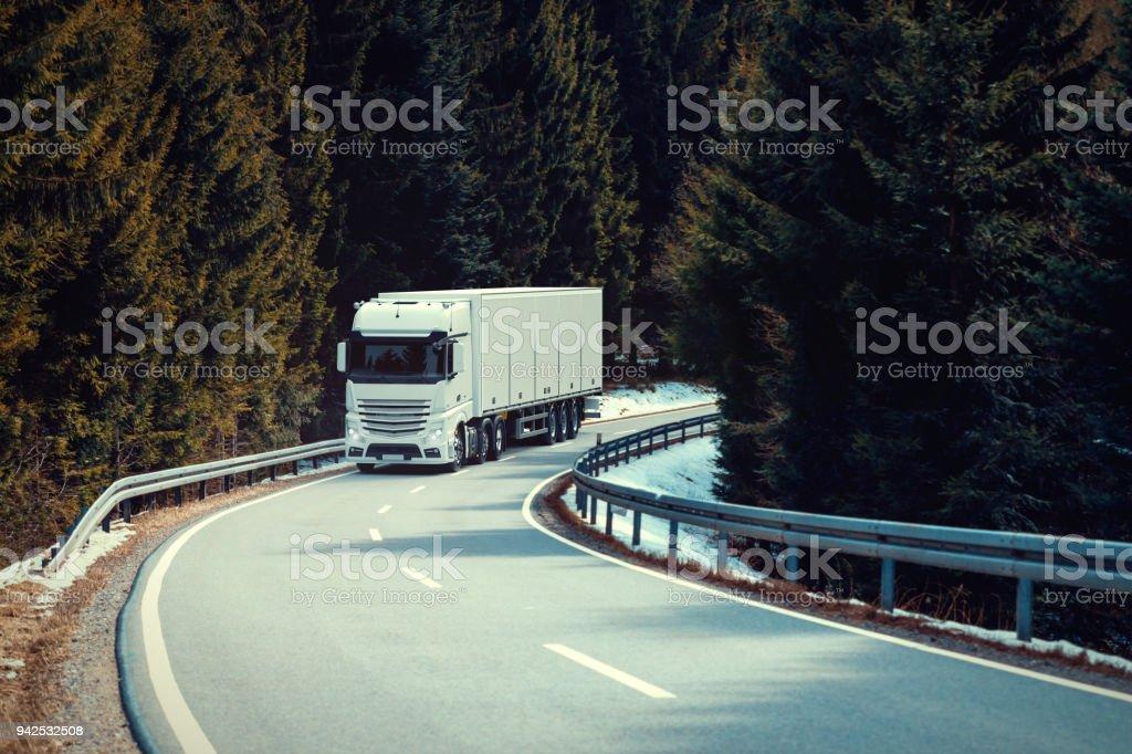 Skandinavischen LKW-Transport – Foto