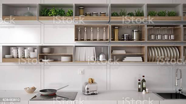 Scandinavian white kitchen shelving system minimalistic interi picture id628483810?b=1&k=6&m=628483810&s=612x612&h=mt9lm8nosgutvpzh6y9yokj6z1rnemcsfogj bpkrrq=