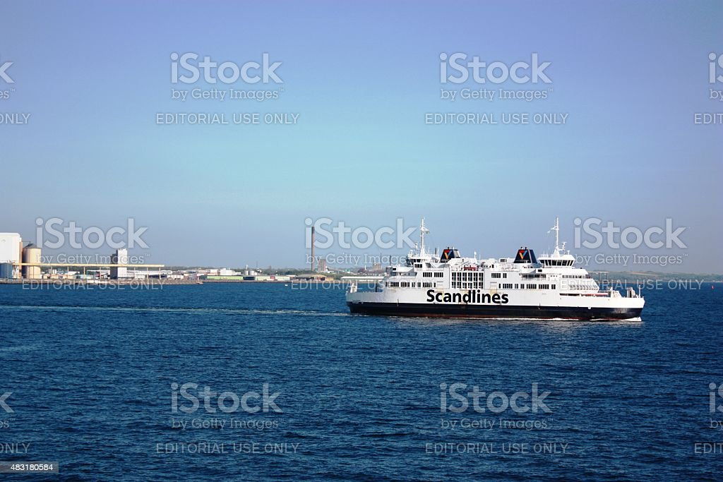 Scandlines a German-Danish shipping company stock photo