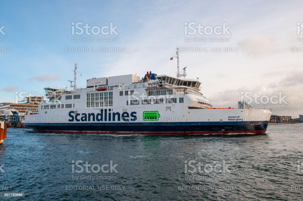 Scandlines ferry Aurora af Helsingborg stock photo