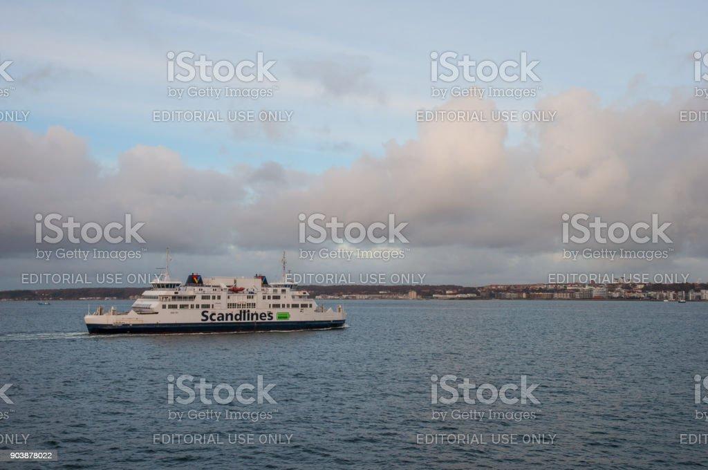 Scandlines ferry Tycho Brahe stock photo