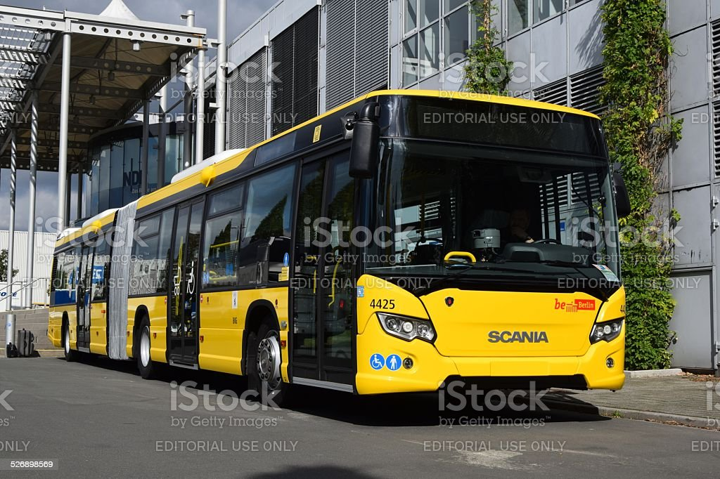 scania bus for berlin at the car show stock photo more pictures of articulated bus istock. Black Bedroom Furniture Sets. Home Design Ideas