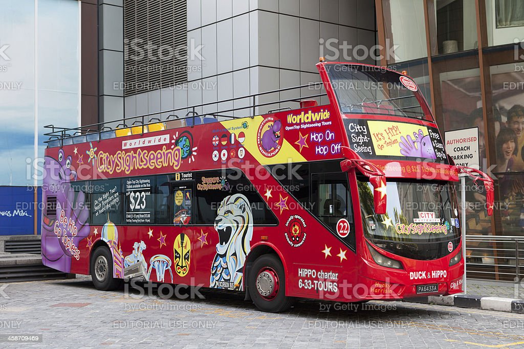 Scania K230UB sightseeing tour bus stock photo