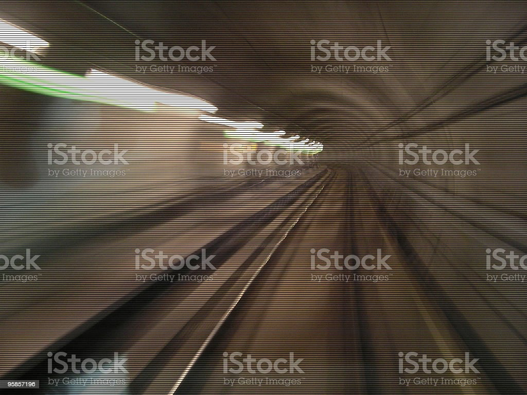 Scanlines: Tunnel stock photo