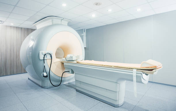 MRI scanner at a hospital/ stock photo