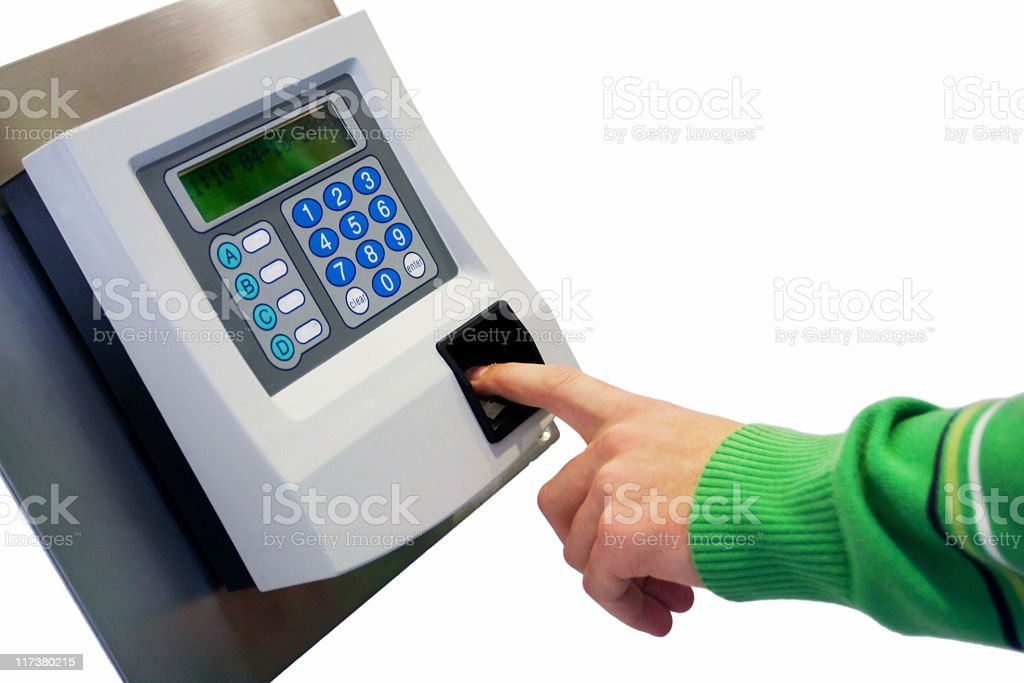 Scanner of authentication stock photo