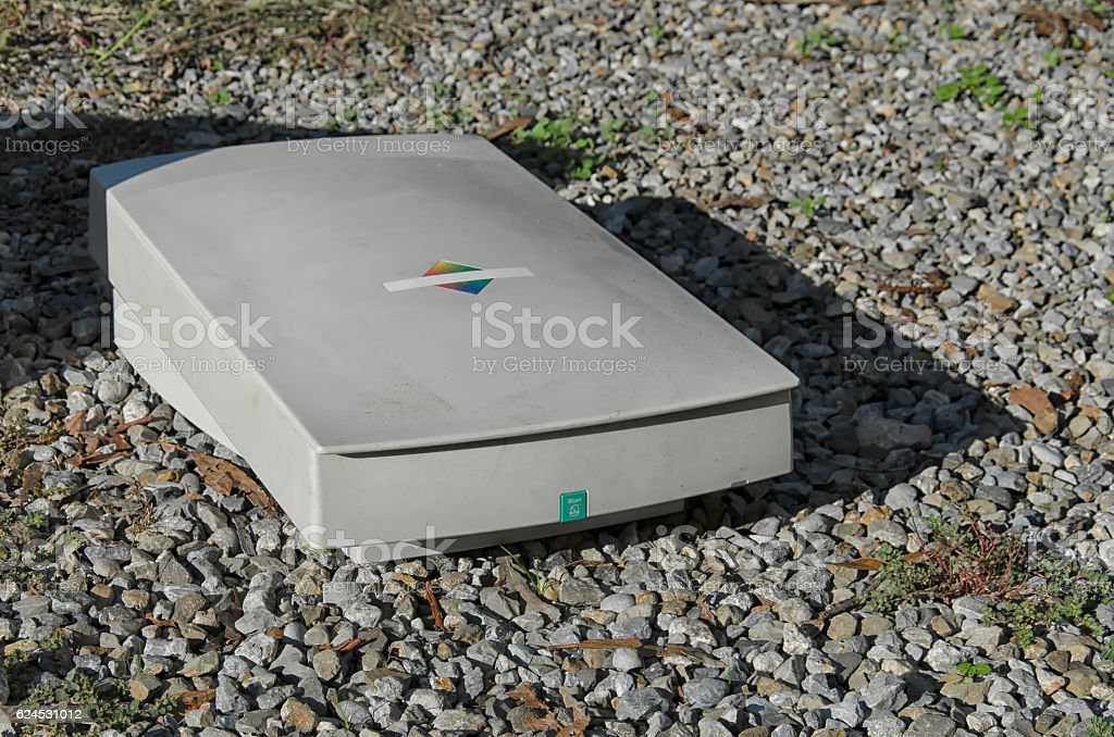 Scanner of the nineties stock photo