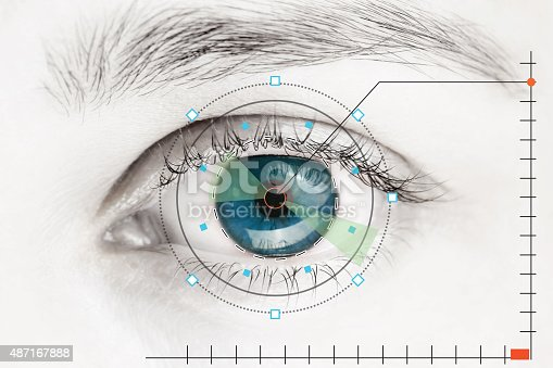 652426098 istock photo Scanner on blue human eye 487167888